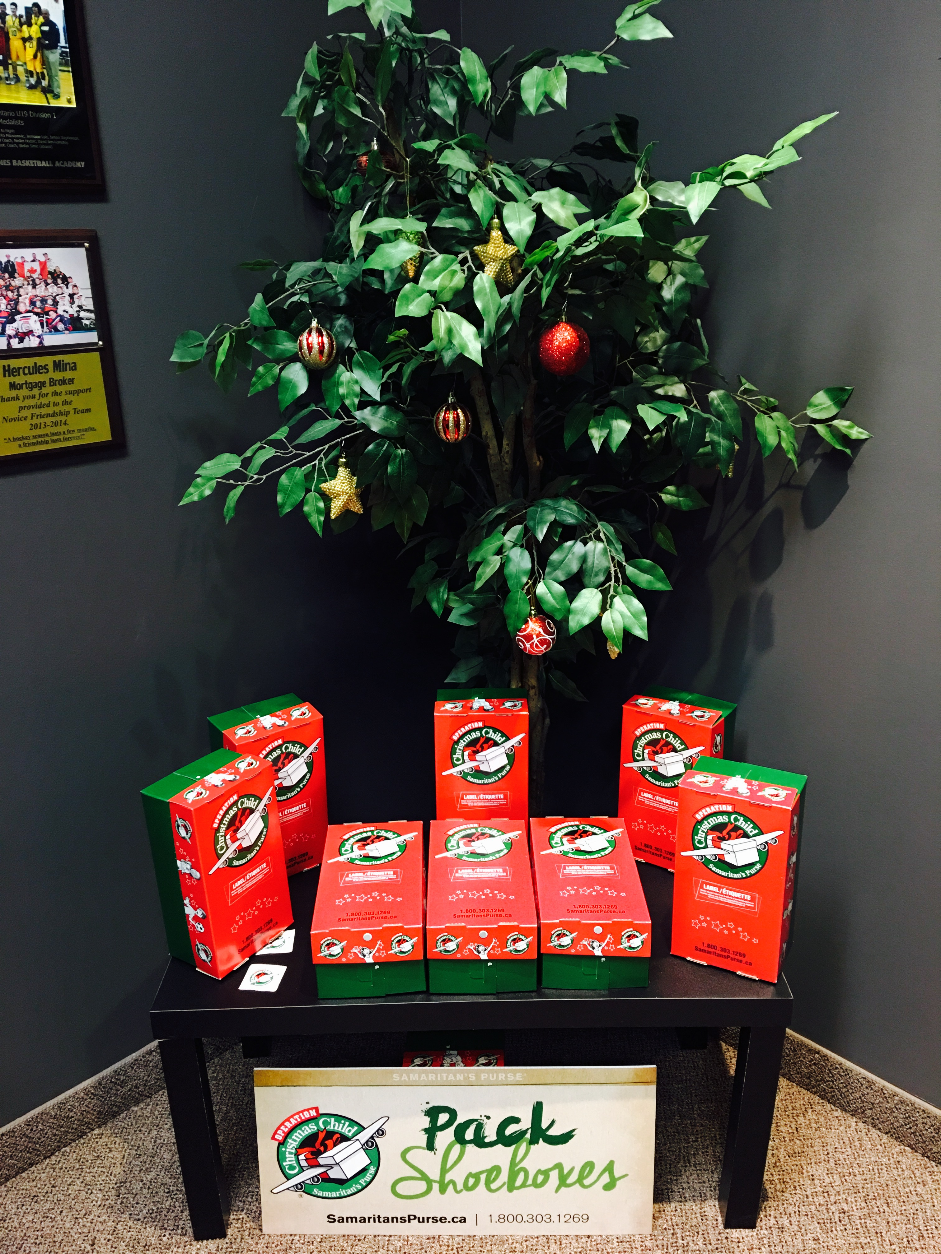 Operation Christmas Child and Mortgage InGenuity Shoebox Drive November 14 to November 20